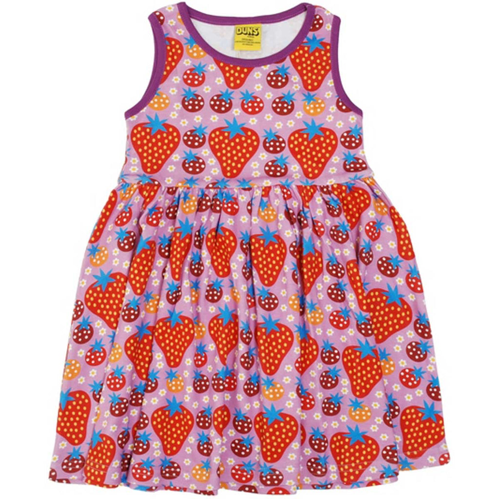 Purple Strawberry Field Twirl Dress
