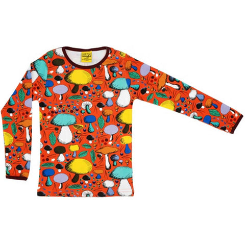 Dark Orange Mushroom Forest Shirt