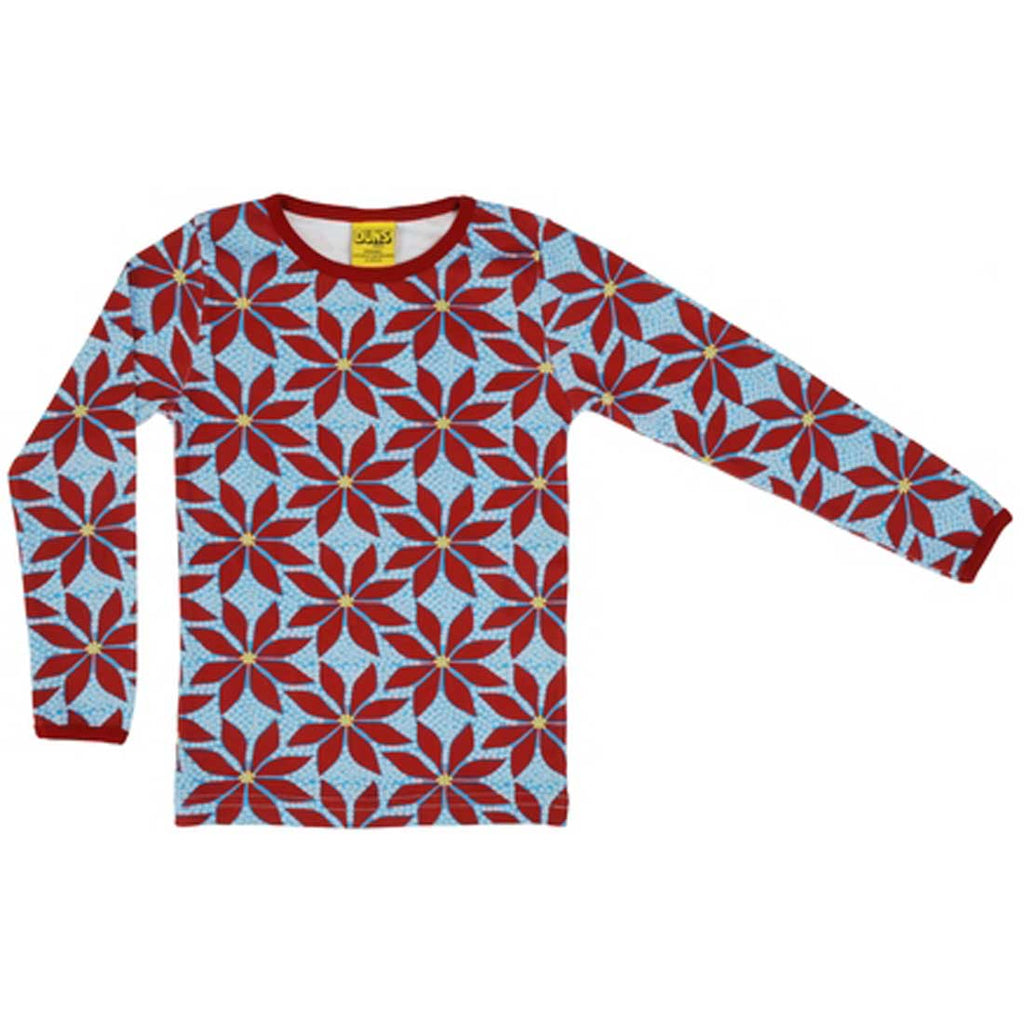 Poinsettia Blue Shirt