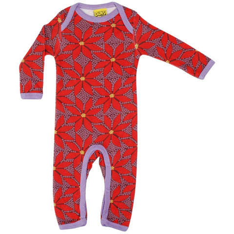 Poinsettia Wine Romper