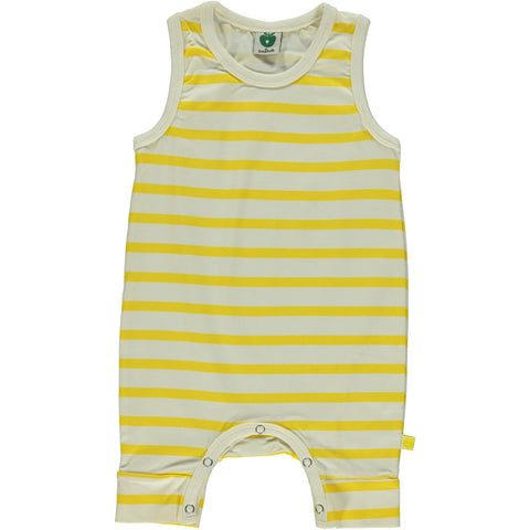 Yellow Stripe Romper