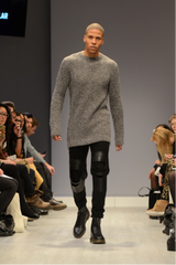men's solid knit sweater