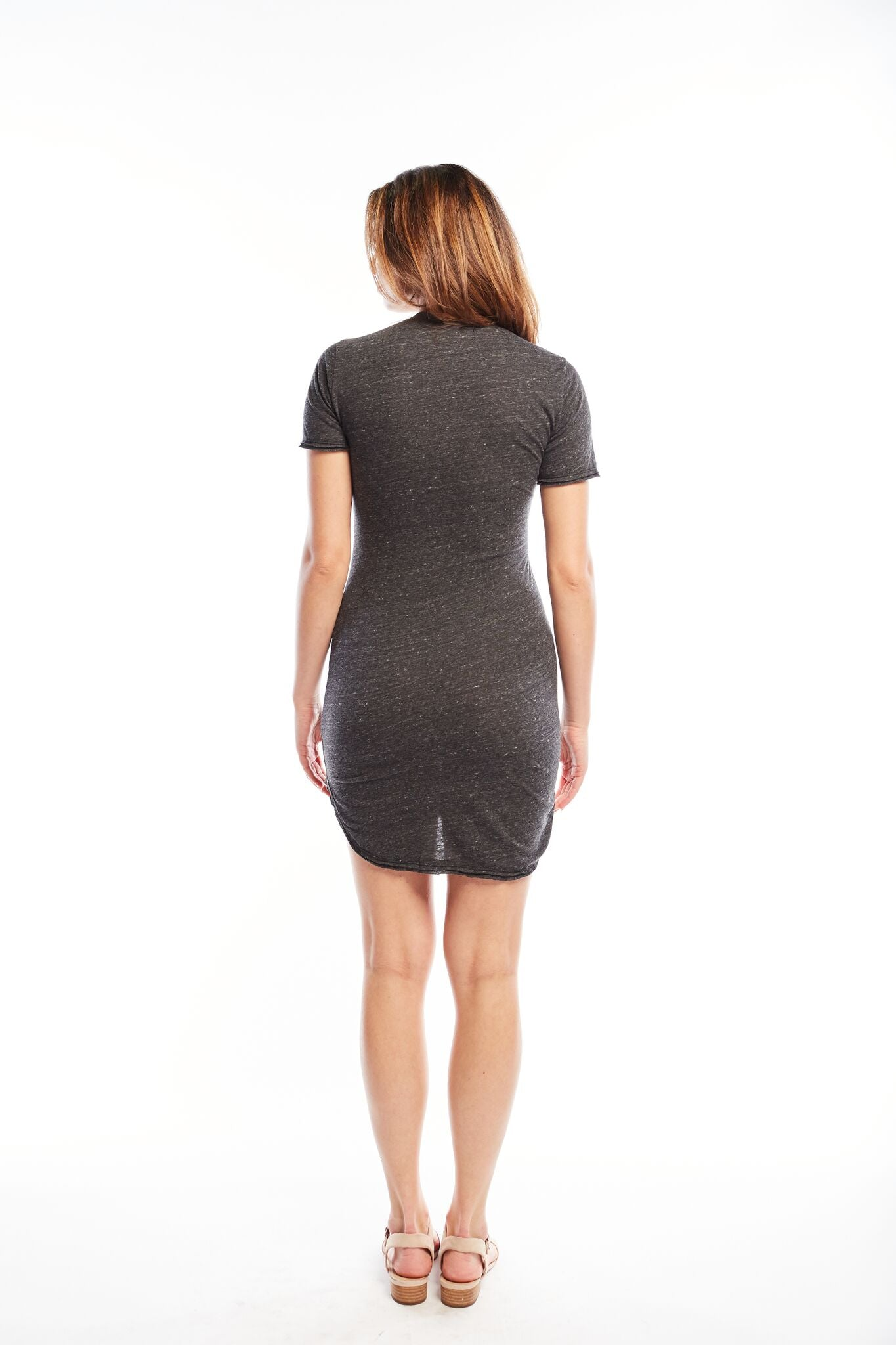 Kristy Tee Dress | DK Grey Heather