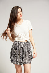 Plum Shorts | B&W Tribal