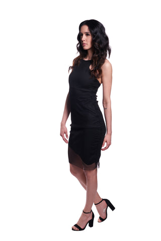 Aries Dress | Black Mesh