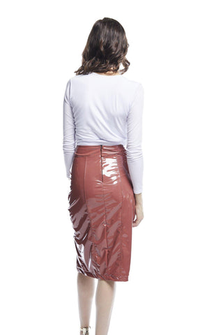 Valencia Pencil Skirt | Rose