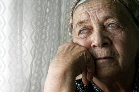 Elderly woman - depression, courtesy of mmlearn.org