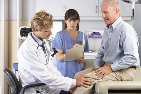 Orthopedic Knee Surgery Patient with Doctor