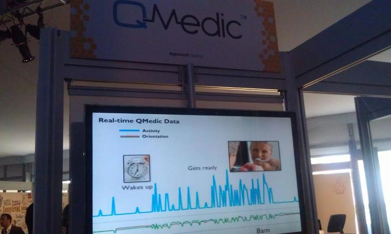 QMedic presenting real-time data at TEDMED's the Hive