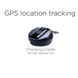 Features GPS Location Tracking and Charging Cradle