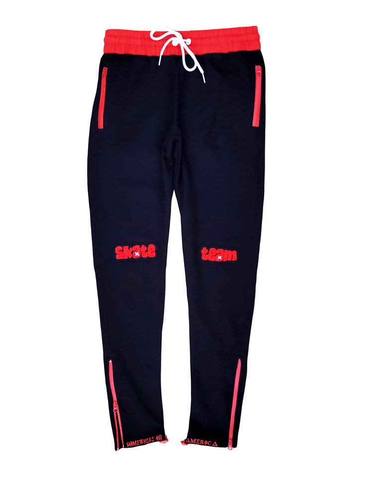"Load image into Gallery viewer, SIA VULTURES BRED ""SK8 TEAM"" LOGO BOTTOM JOGGERS"