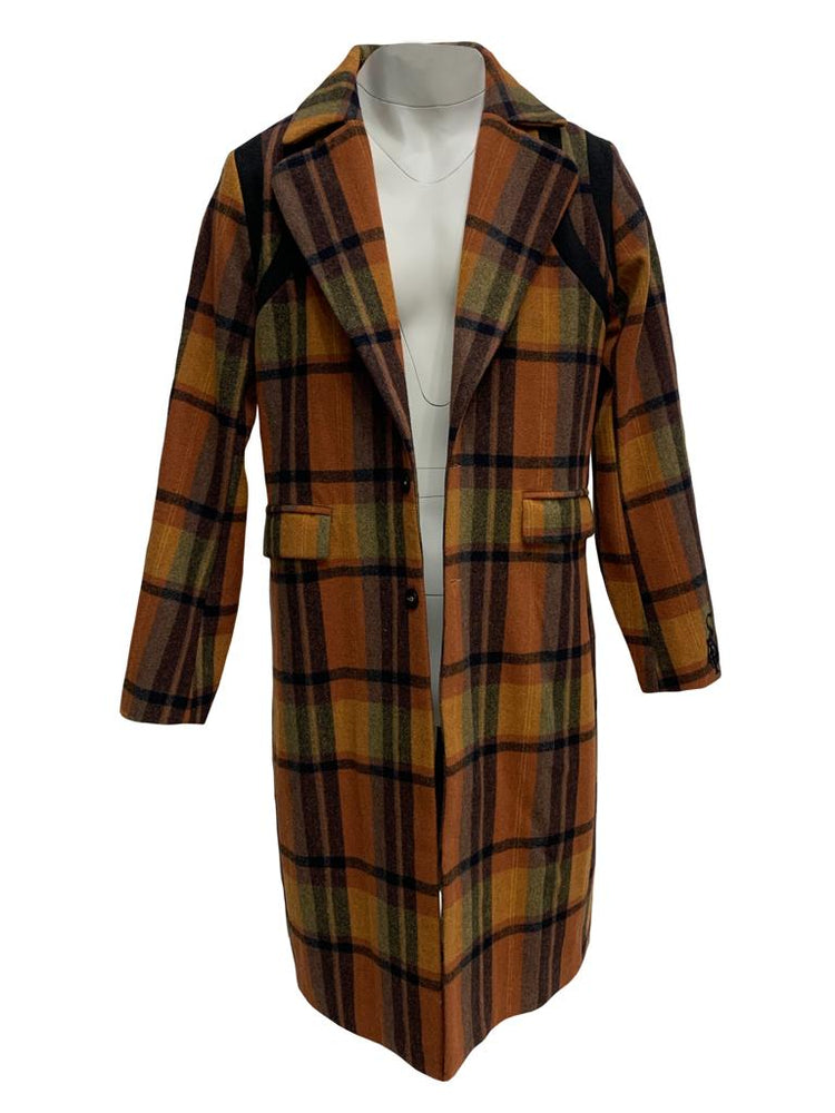 "Load image into Gallery viewer, SIA ""AUTUMN FLOW"" WOOL RUTHIE TRENCH"