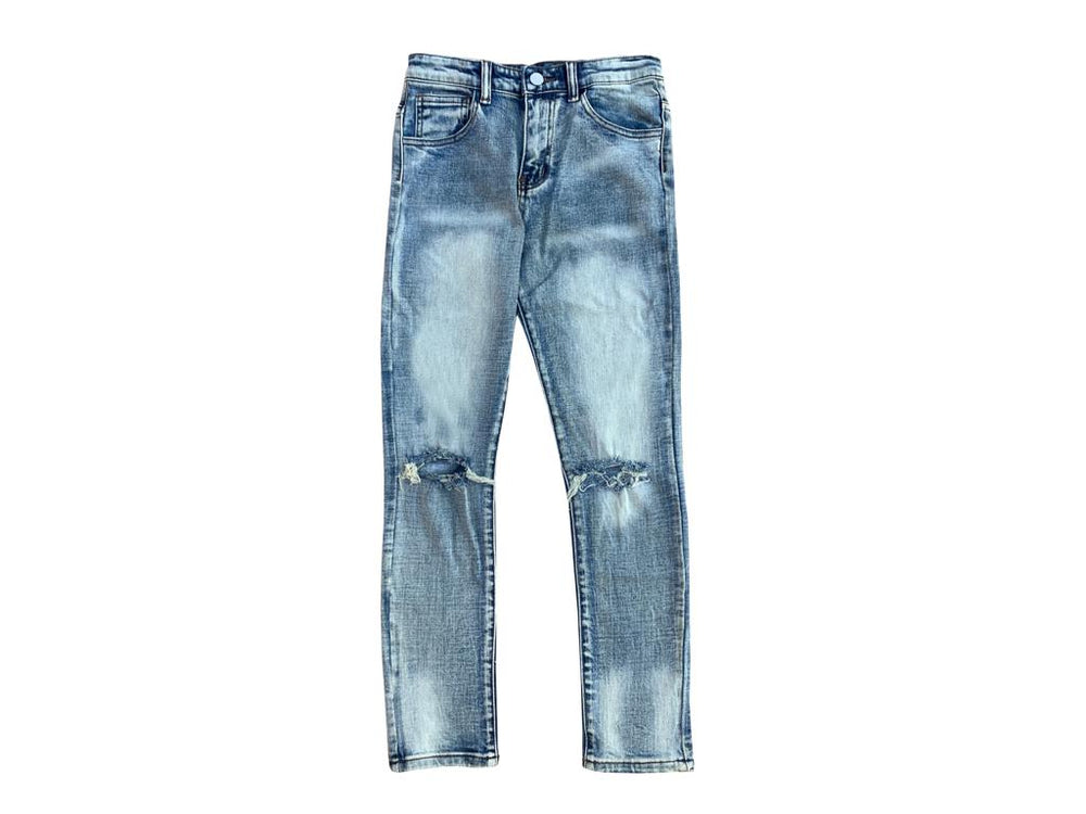 "Load image into Gallery viewer, SIA KIDS ""DIRTY WASH"" PREMIUM JEANS"
