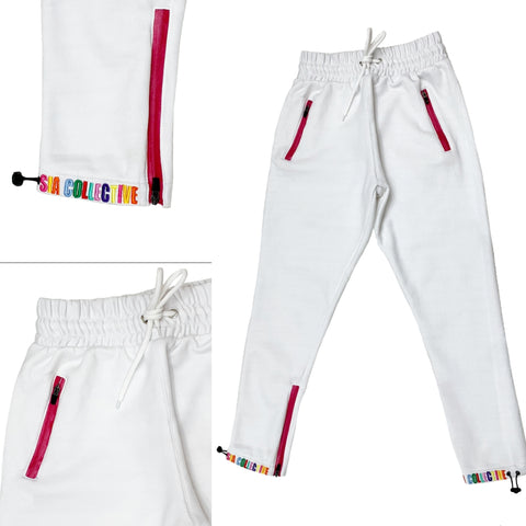 "SIA ""MULTI COLOR"" ANKLE LOGO JOGGERS"