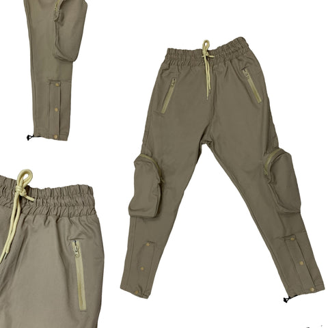 SIA LIGHT KHAKI/CREAM ZIPPEE B52 JOGGERS