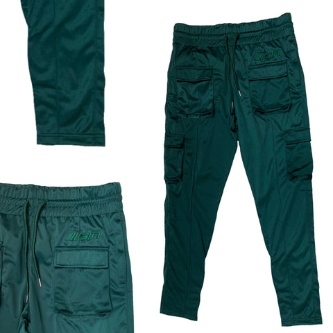 SIA FOREST GREEN TAILORED POLYESTER TRACKPANTS