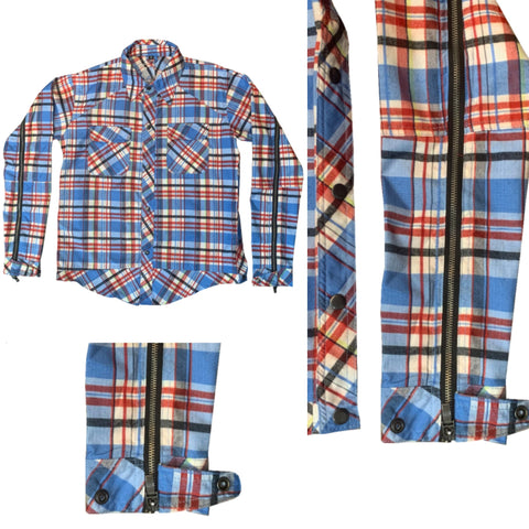 "SIA ""SKY BLUE AND RED"" UTILITY FLANNEL"