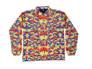 "Load image into Gallery viewer, SIA ""ORANGE CAMO"" COACHES JACKET"