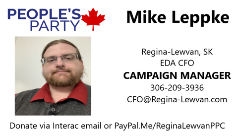 Repayable Loan to the Regina-Lewvan PPC's Campaign