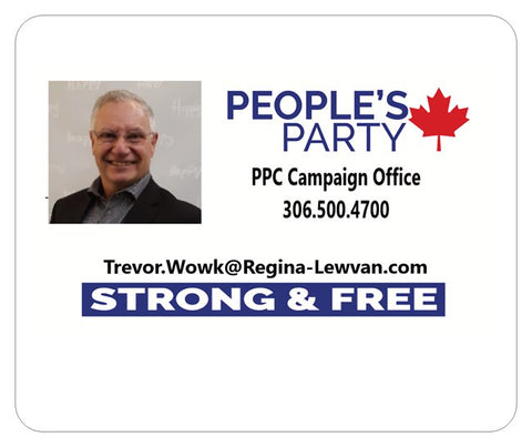 Mouse Pad - White with PPC Campaign Office Contact