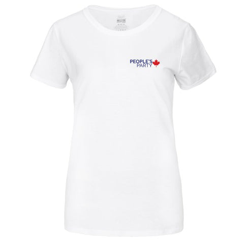 Short Sleeve White T-Shirt - PPC Logo on Front