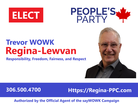 Lawn Sign with PPC Regina-Lewvan Campaign Contact