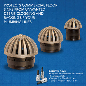 Guardian Drain Lock Dome-D-Lock