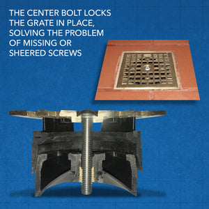 LockOut - Locking Floor Drain Replacement Grate With Odor and Bug Blocker