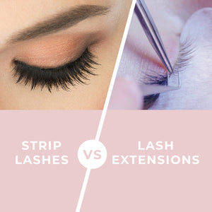Lash Extensions vs Strip Lashes