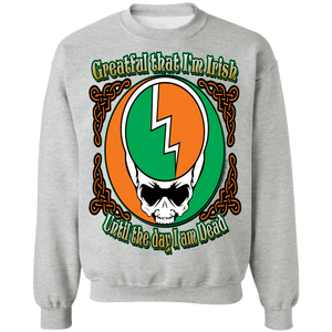 Grateful Irish - Celtic Warrior  Crewneck Pullover Sweatshirt  8 oz.