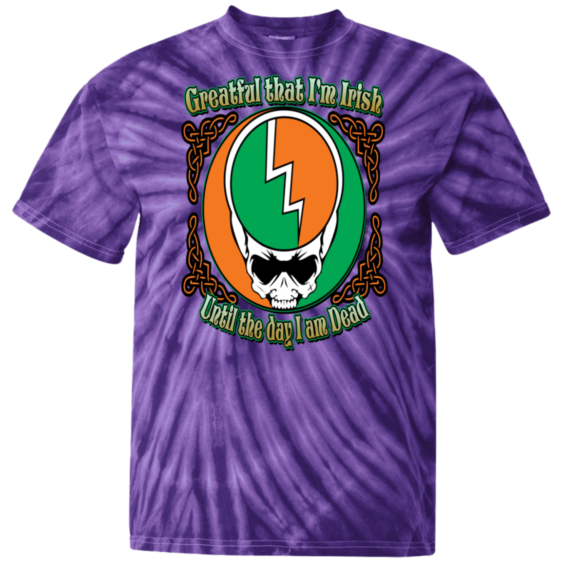 Grateful Irish - Celtic Warrior 100% Cotton Tie Dye T-Shirt