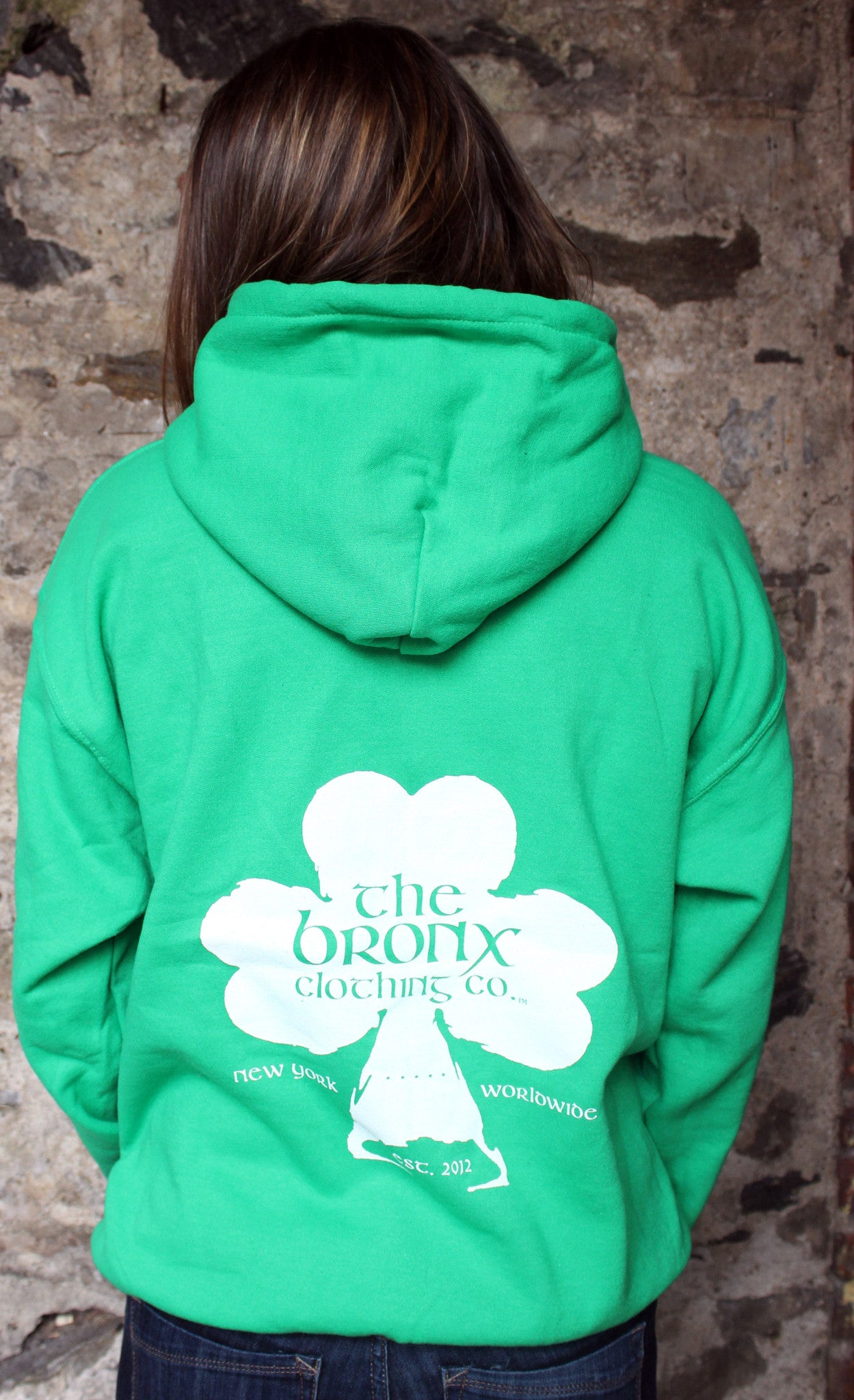 The Bronx Worldwide Pullover Hoodie Kelly Green