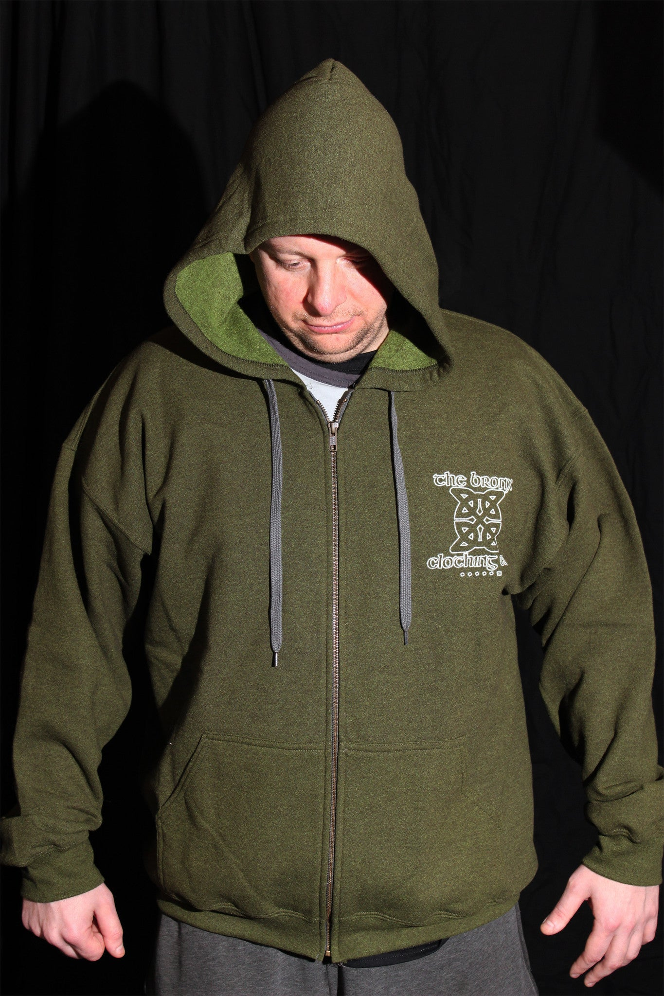 The Bronx Worldwide Hoodie Green