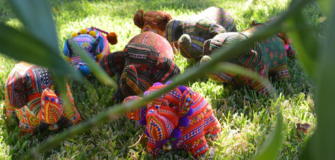 Hmong Hand Made Stuffed Elephants The Elephant Story