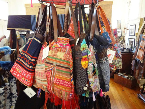 The Elephant Story carries a wide range of Asian woven bags and purses.
