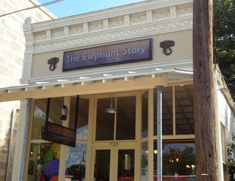 The Elephant Story, a shop housed in a historic landmark 1913 building that was once a pool hall, features artisan wares from Asia.