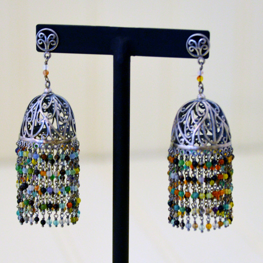 Indian Silver Earrings 8