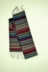 Carol Cassidy Cambodian Silk Mini Rainbow Scarf - Thin Stripe