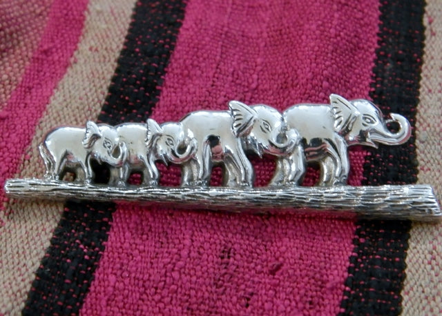 Elephant Family Broach