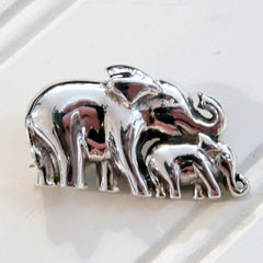Mother and Baby Elephant Broach