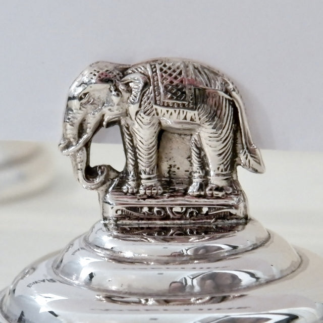 Sterling Silver Elephant Place Setting Card Holder