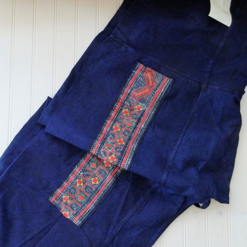 Fisherman Pants with Vintage Hill Tribe Fabric Patch (One Size Fits All)