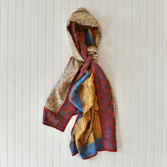 Indian Silk Sari Kantha Scarves