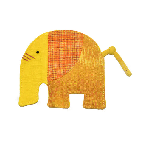 Cotton Elephant Coaster - Yellow