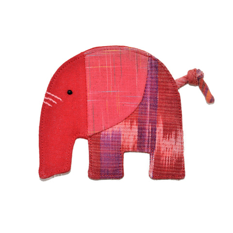 Cotton Elephant Coaster - Red