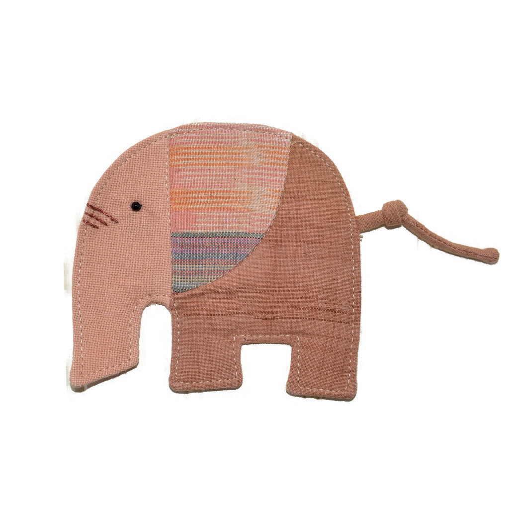 Cotton Elephant Coaster - Tan