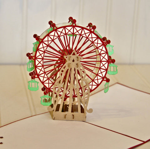 Vietnamese Hand-made Pop-up Card - Ferris Wheel