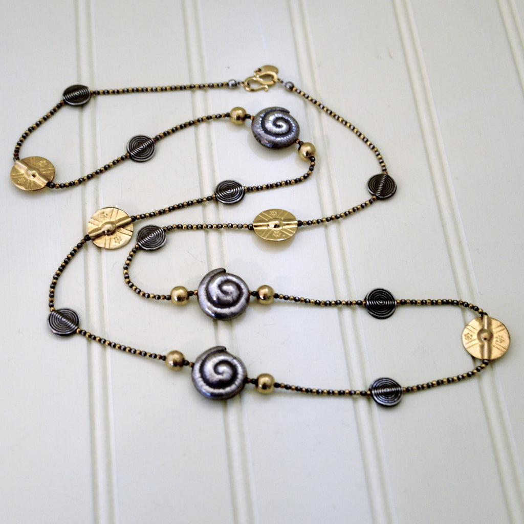 Indian Silver & Brass Necklace