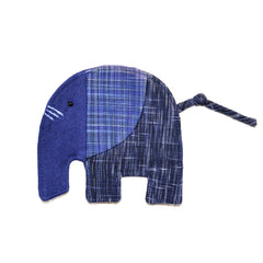 Cotton Elephant Coaster - Blue