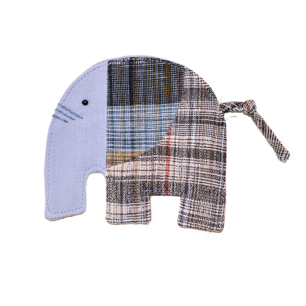 Cotton Elephant Coaster - Grey